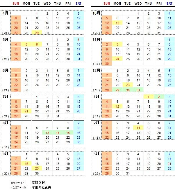 2014年度カレンダー Copyright   2015 APTSYSTEMS,Inc. AL.